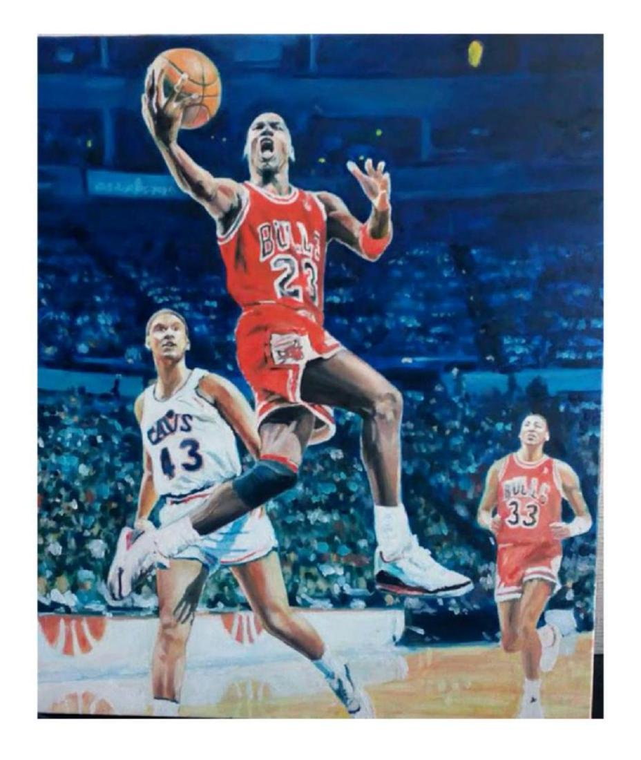 "Turchinsky Dimitry- Original Oil on Canvas ""Jordan Vs."