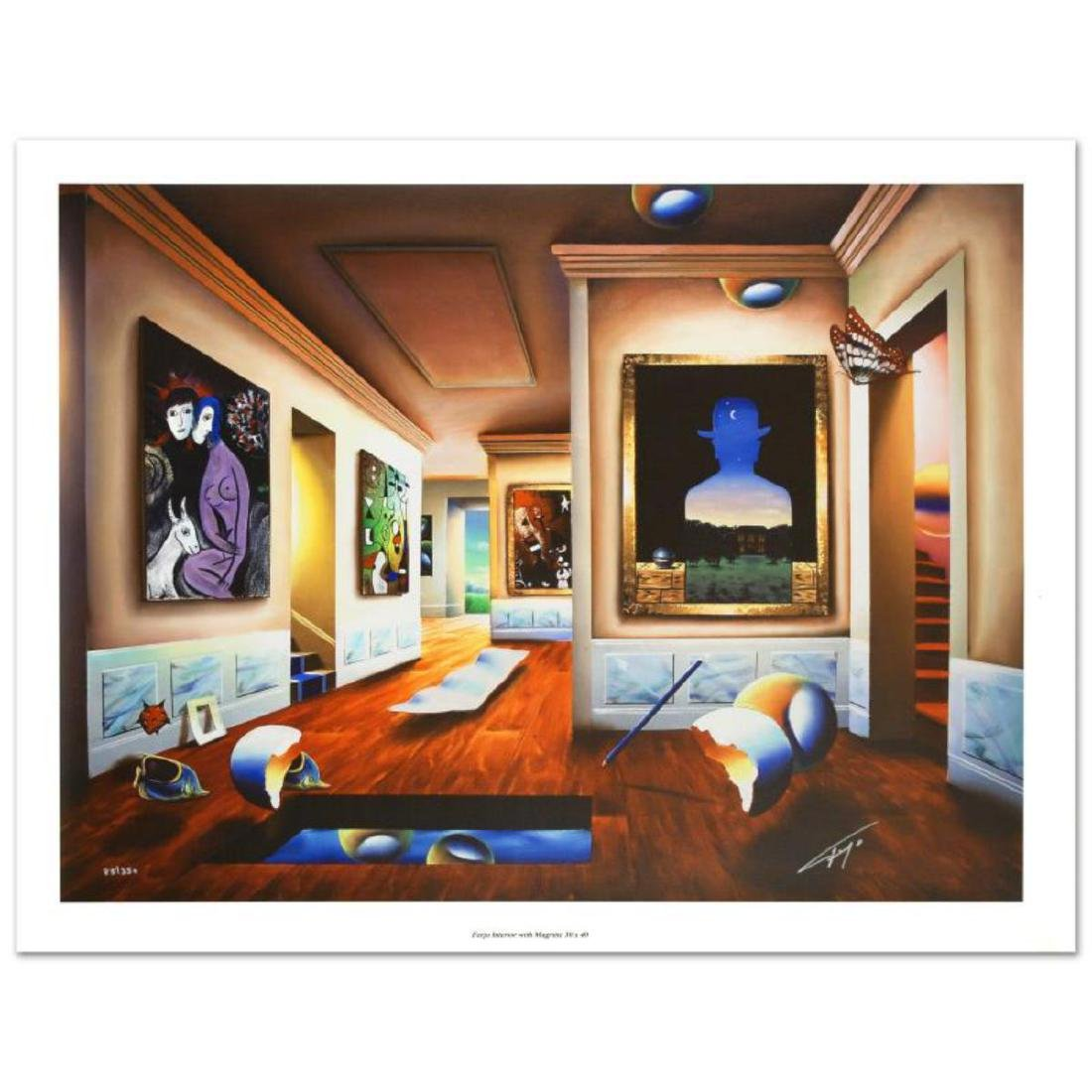 """Interior with Magritte"" Limited Edition Giclee on"