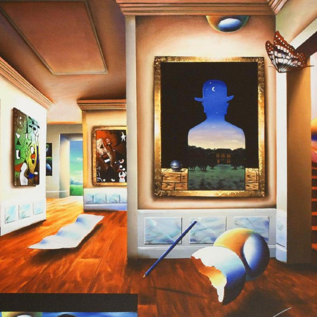 """Interior with Magritte"" Limited Edition Giclee on - 2"