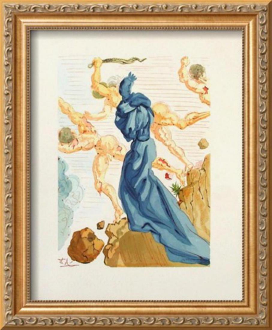 """Salvador Dali """"Divine Comedie, Enfer 15: Les Margelles"""