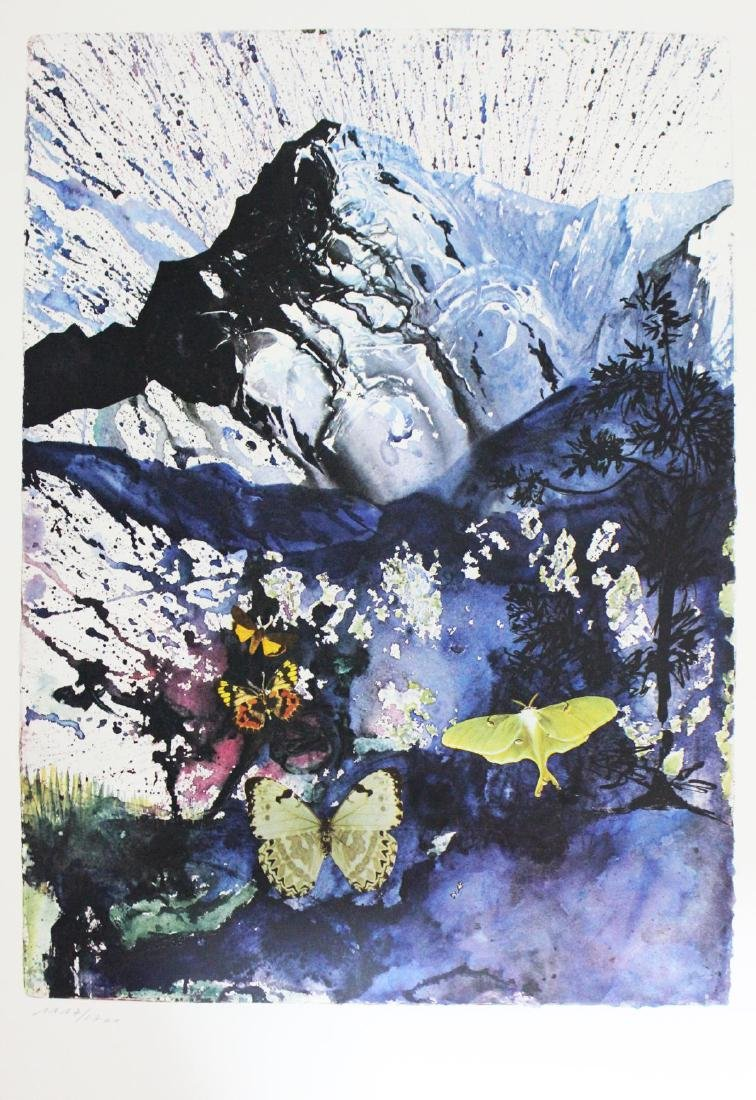 "Salvador Dali- lithography ""Alpes"""