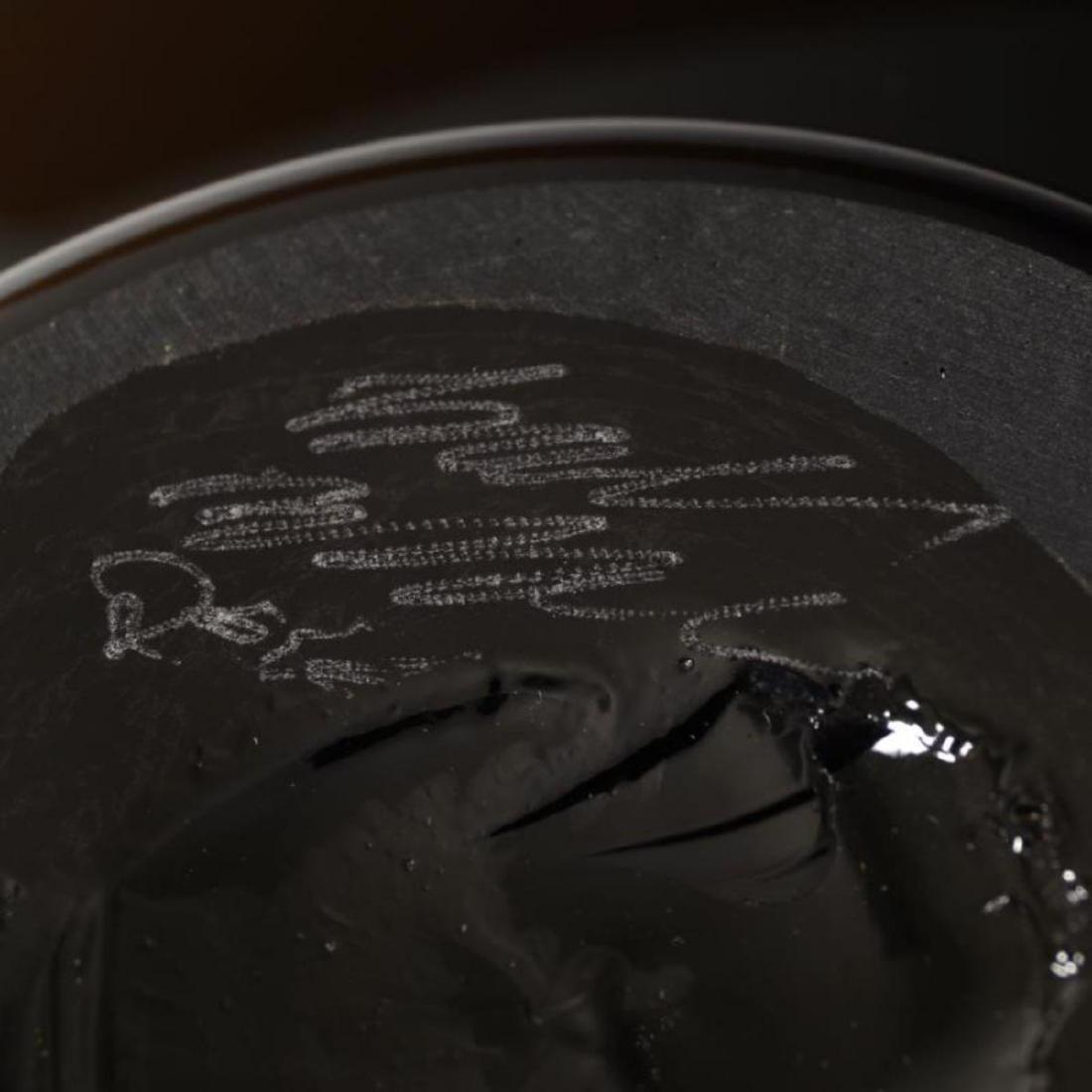 """Strata Series Medium Tangerine Bowl"" Hand Blown Glass - 3"