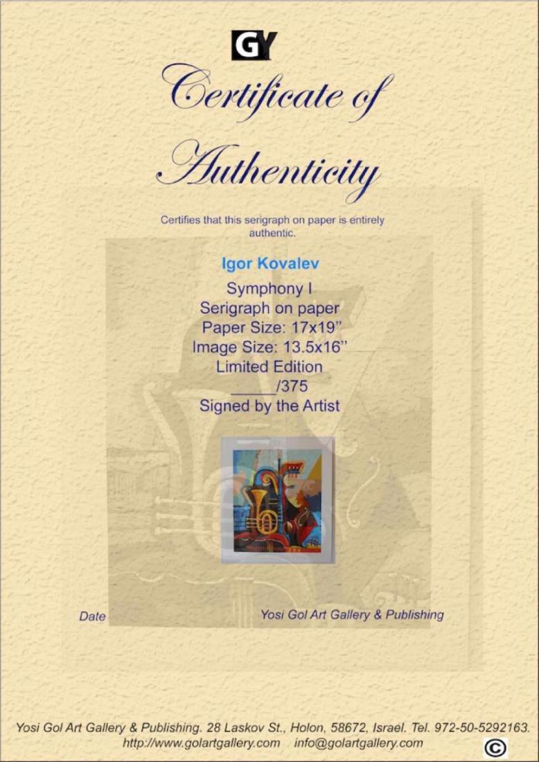 Igor Kovalev- Symphony I Limited Edition serigraph - 4