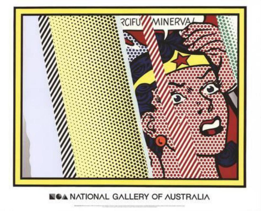 "Roy Lichtenstein ""Reflections on Minerva"" Offset"