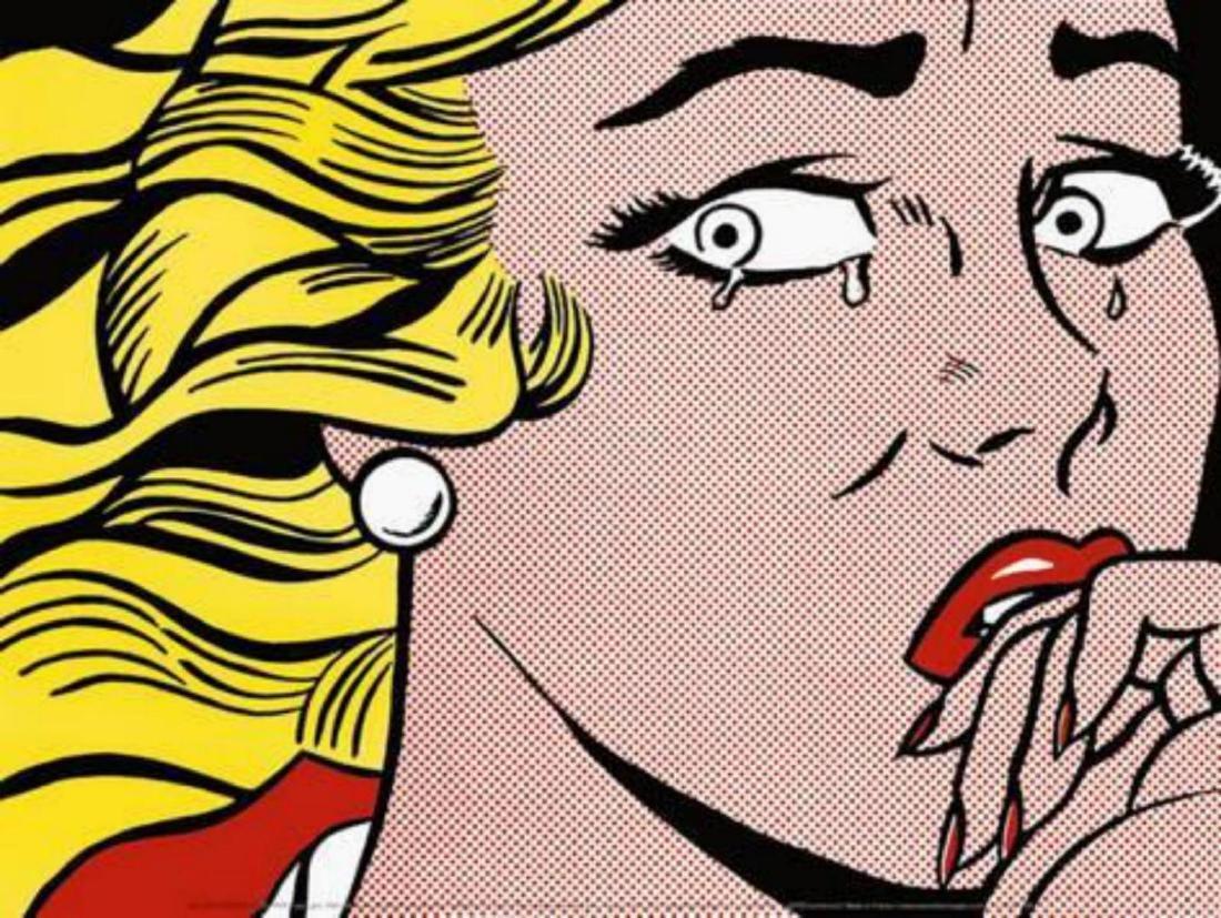 "Roy Lichtenstein ""Crying Girl"" Offset Lithograph"