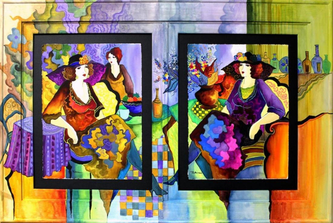 Patricia Govezensky Original Dual Watercolors with