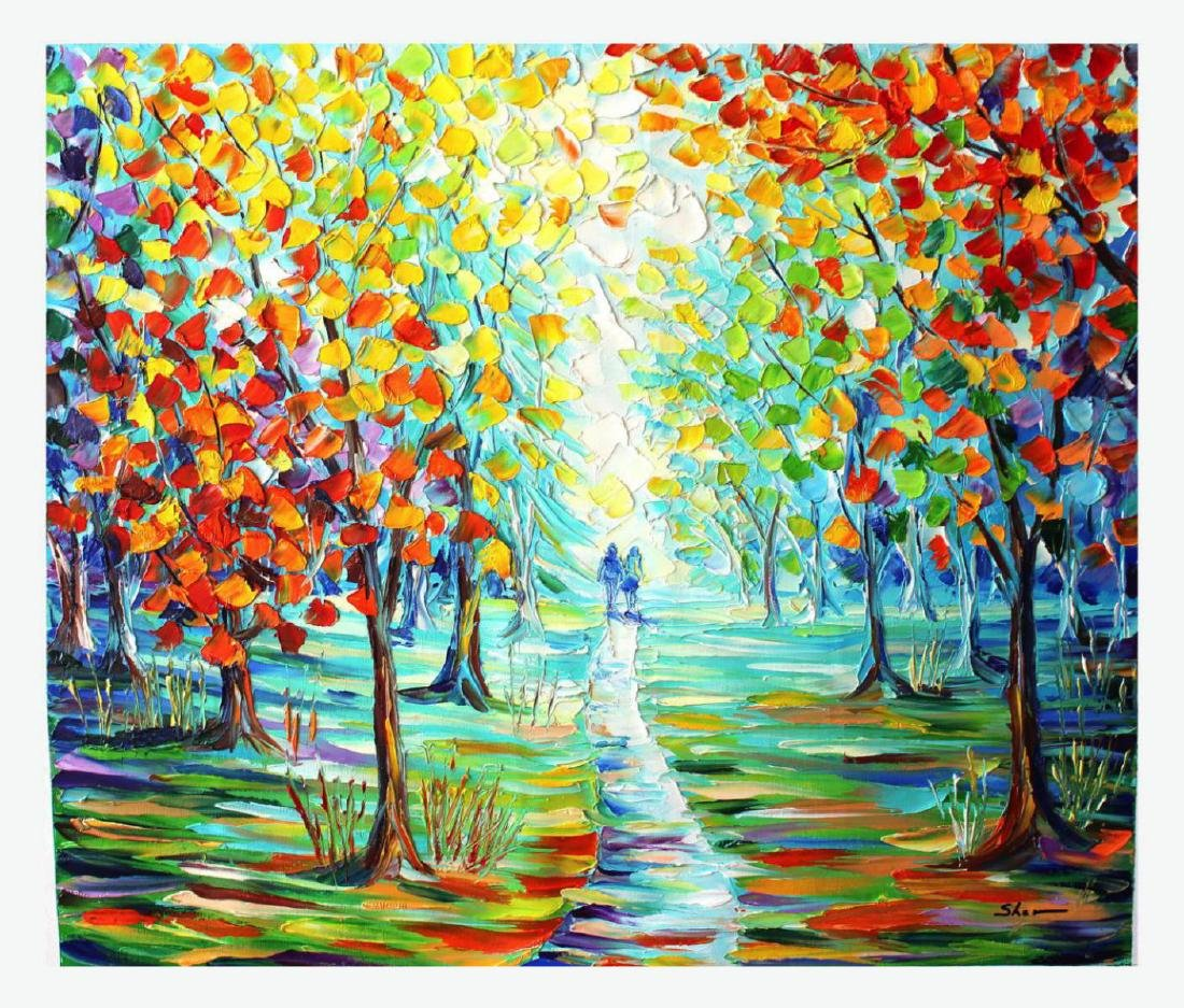 Sher- Original Oil on Canvas Painting- Summer Delight