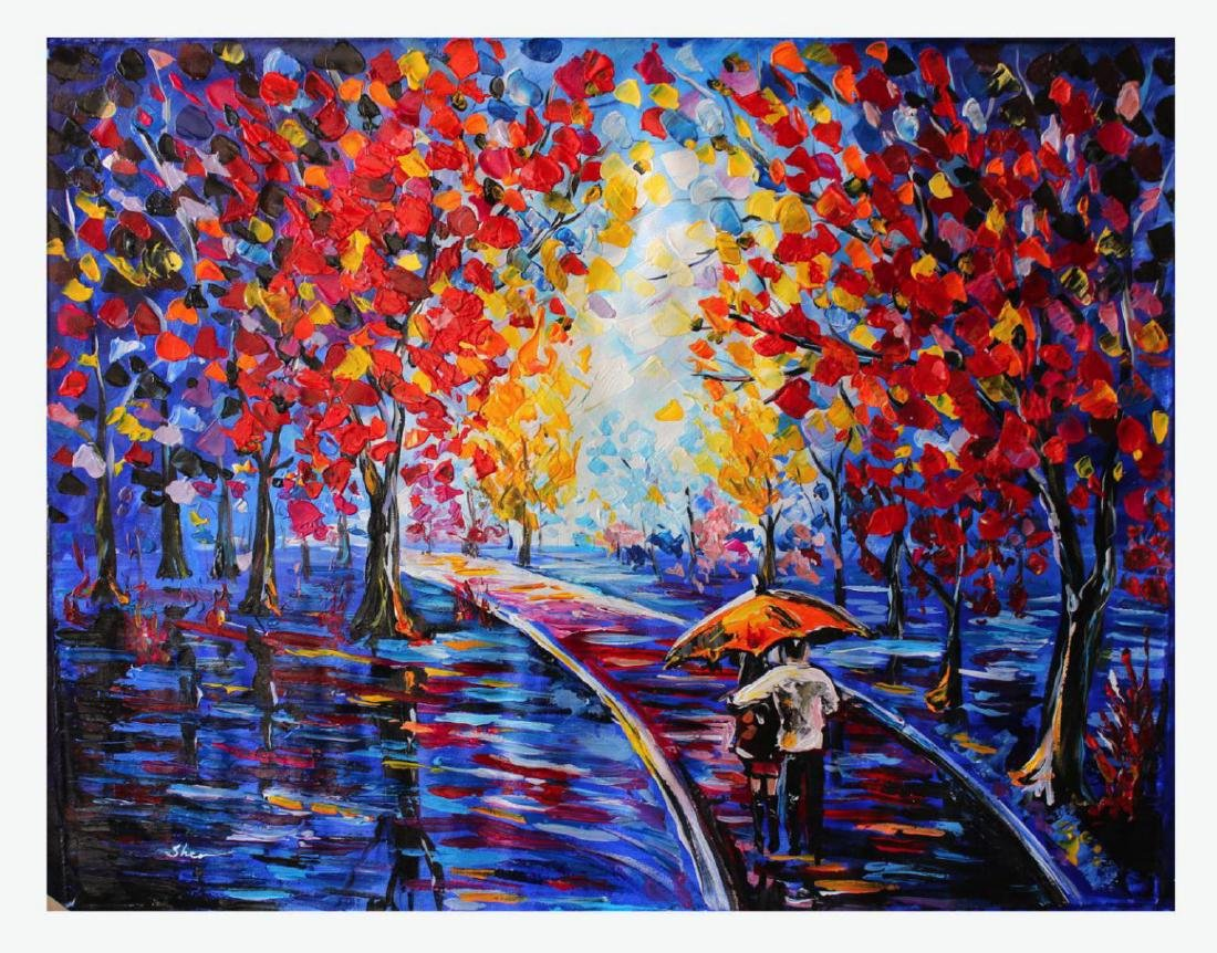 Sher Limited Edition Giclee on Canvas- Couples in the