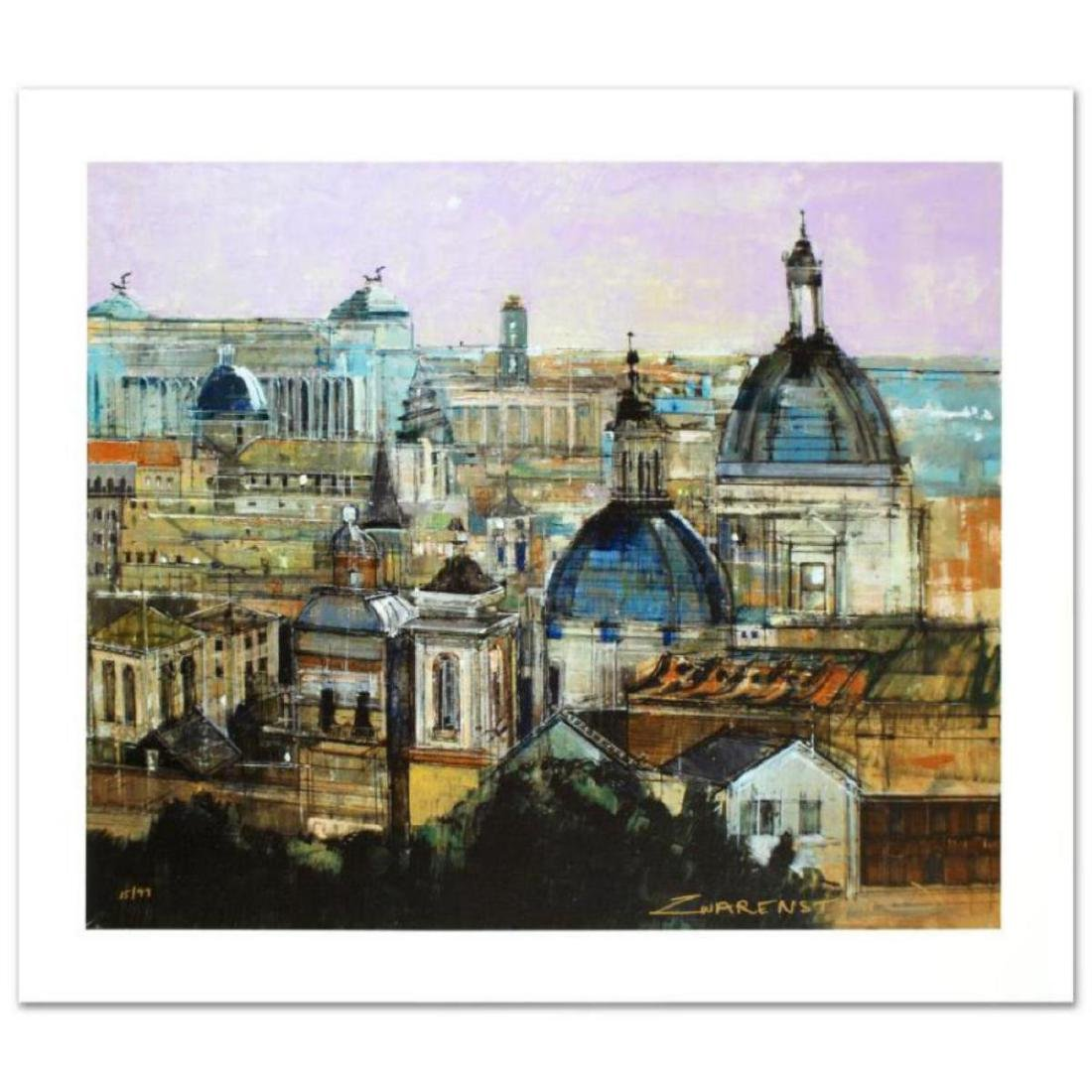 """""""Rome Rooftops"""" Limited Edition Giclee on Canvas by"""