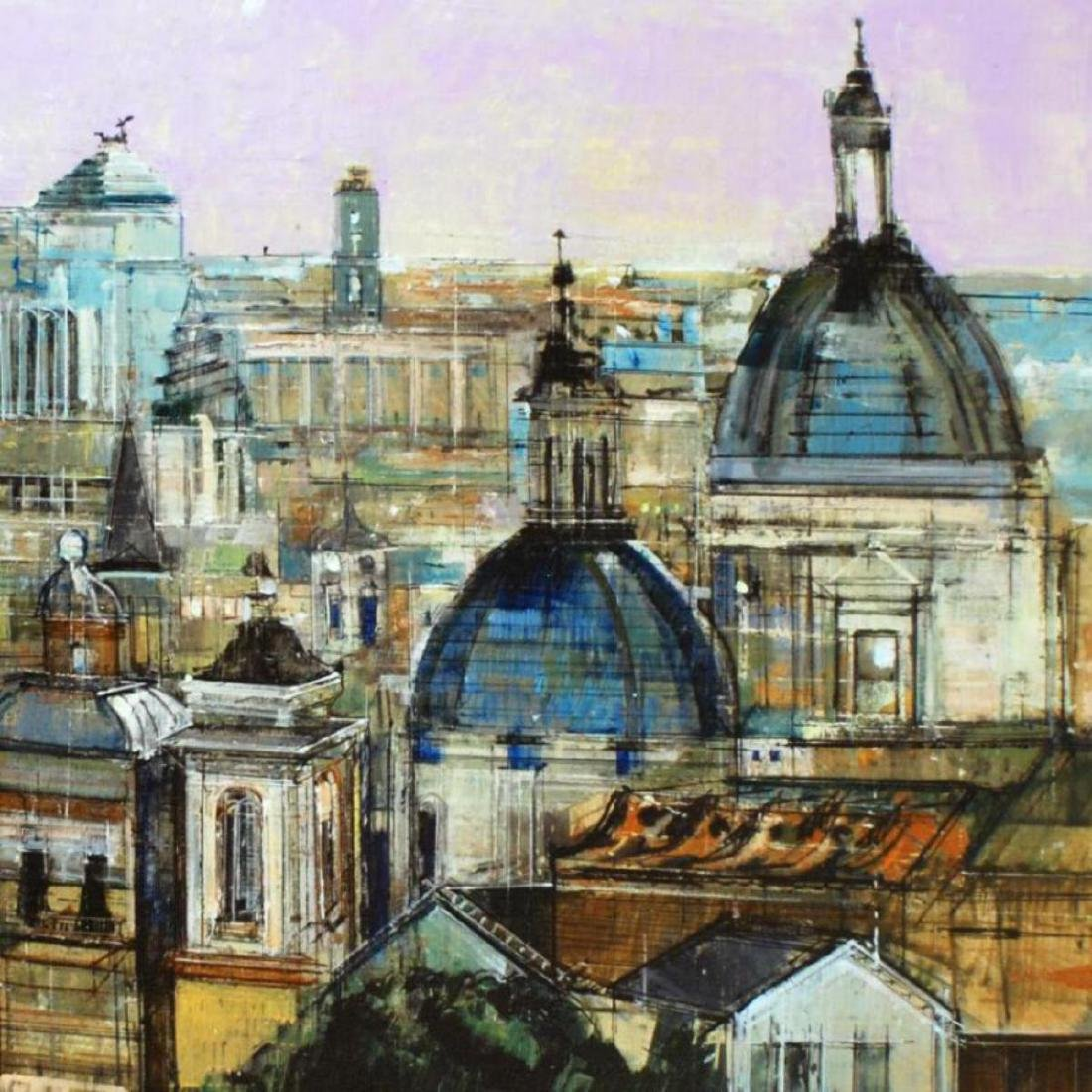 """""""Rome Rooftops"""" Limited Edition Giclee on Canvas by - 2"""