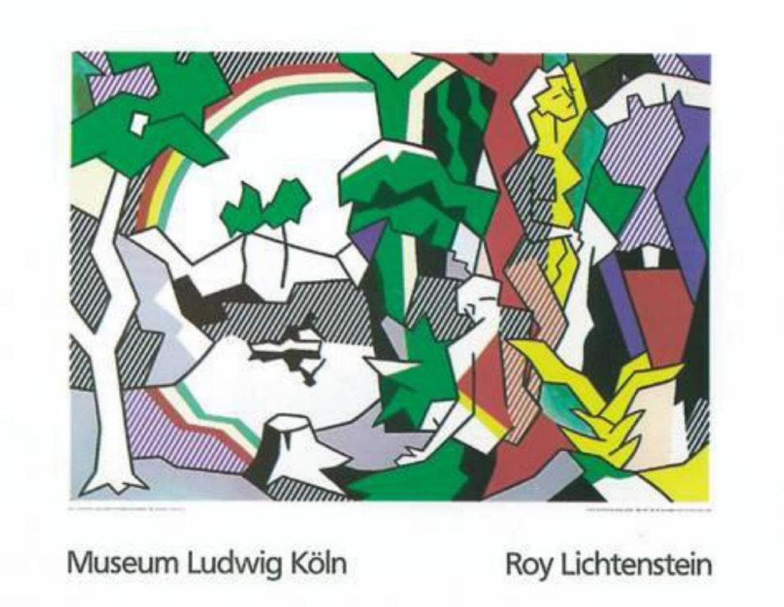 """Roy Lichtenstein """"Landscape with Figures"""" Serigraph"""