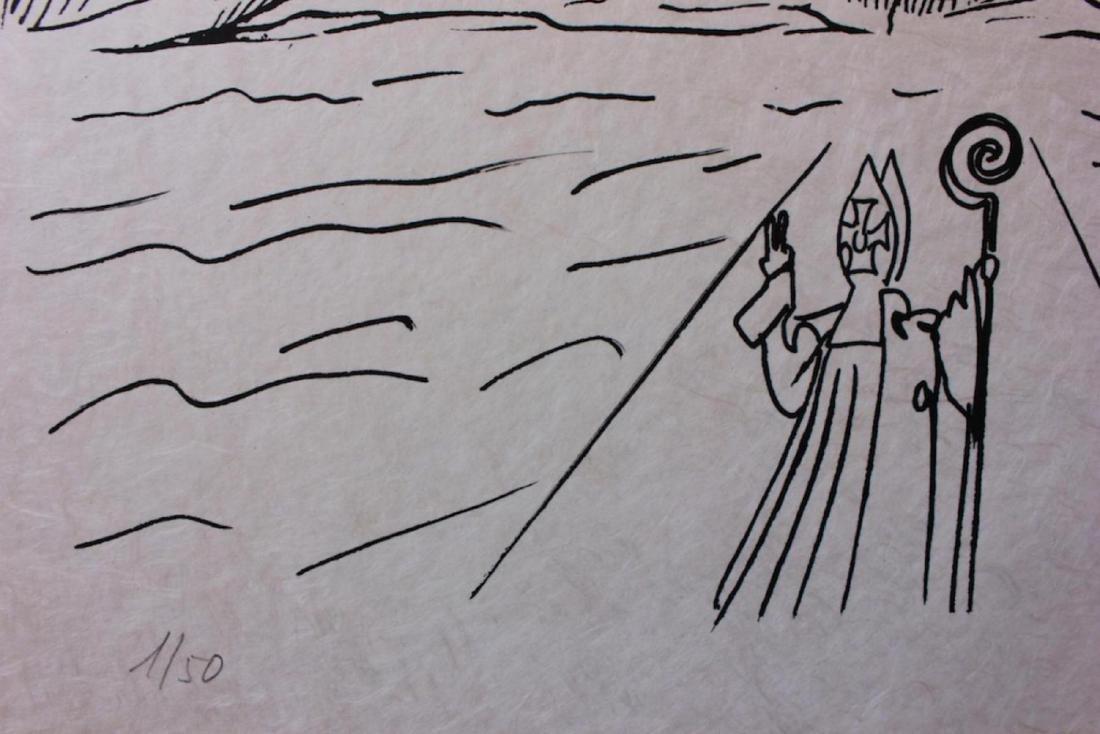 """Salvador Dali Original Lithograph """"Les Songes - 4"""