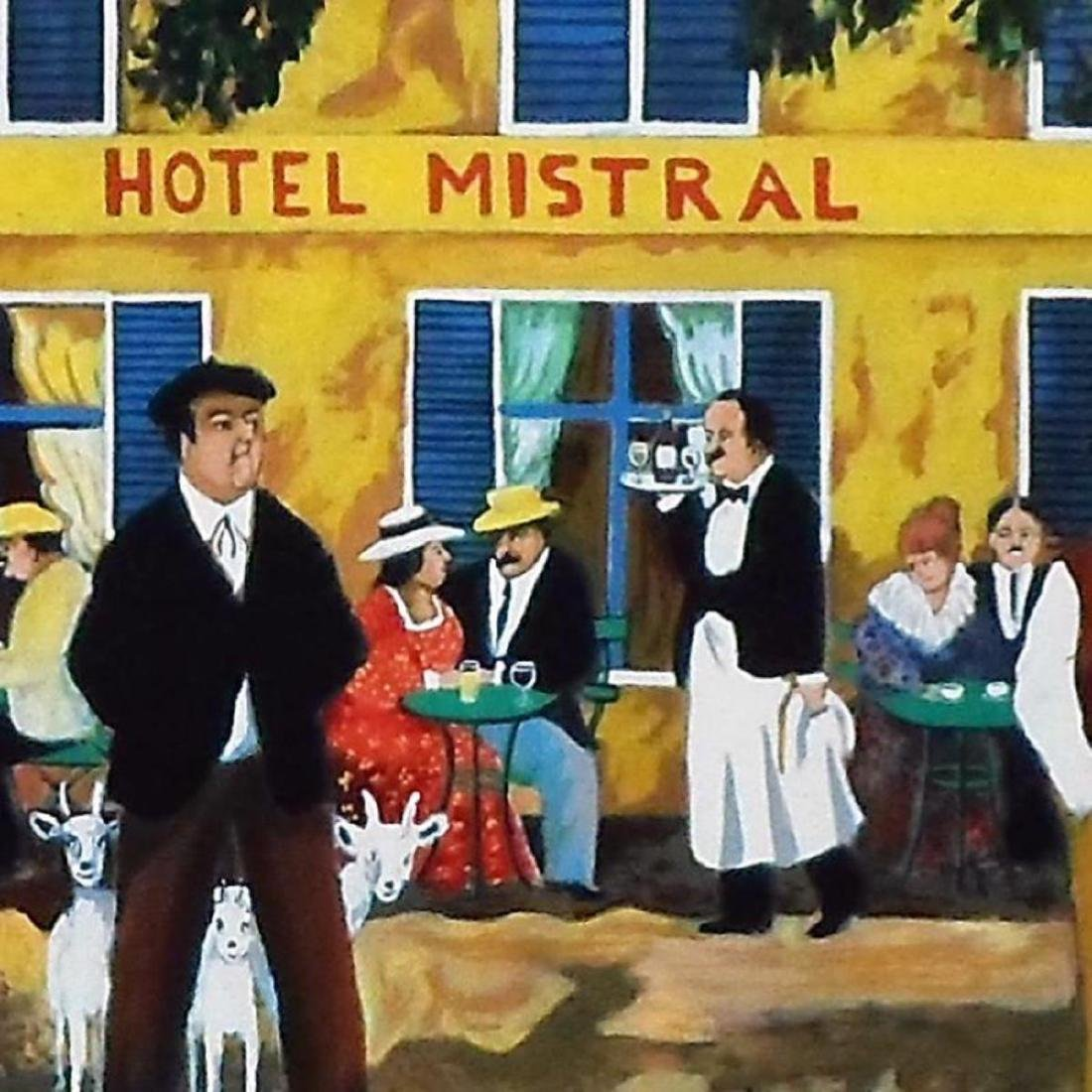"""Guy Buffet - """"Hotel Mistral"""" Limited Edition Serigraph; - 2"""