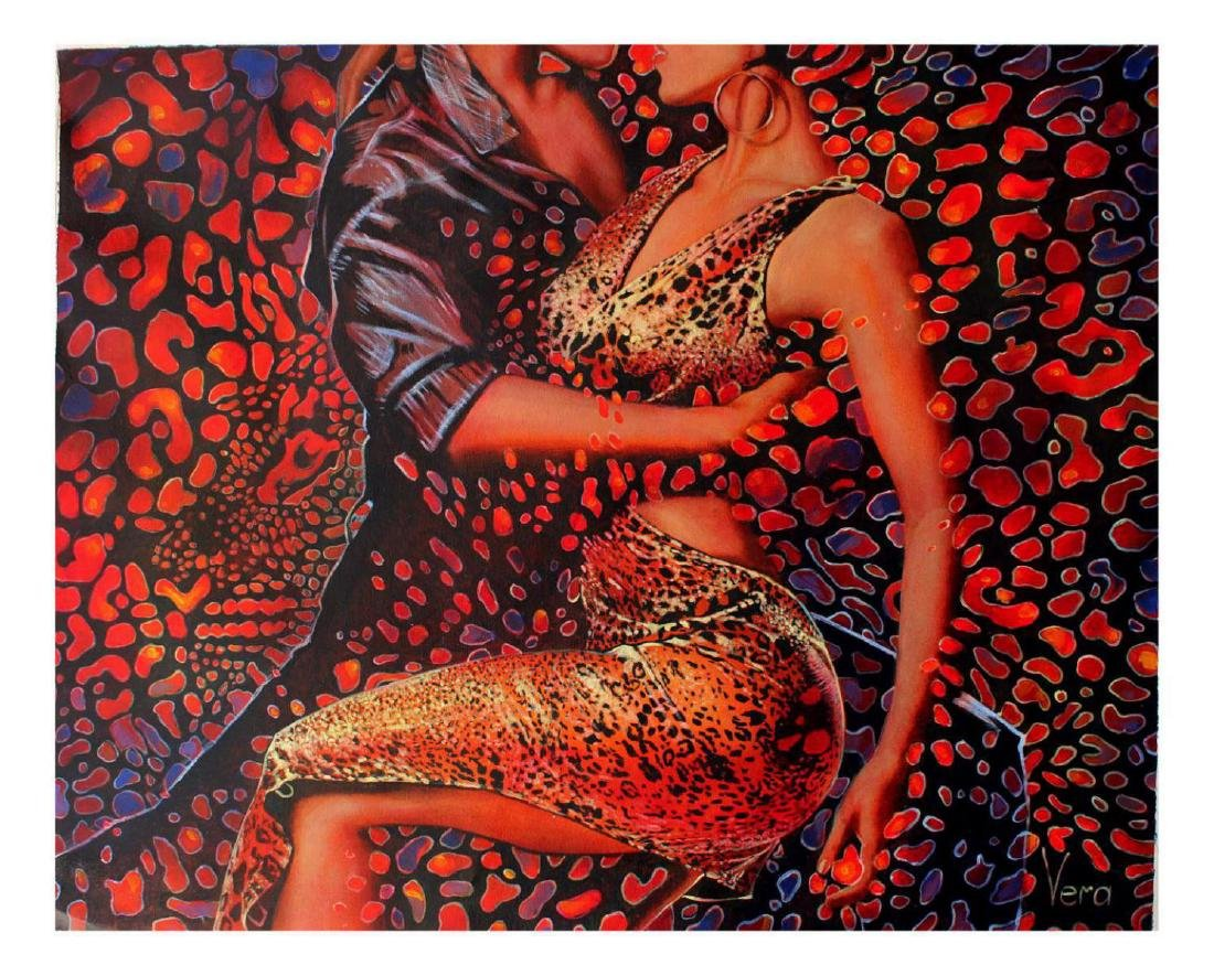 Vera V. Goncharenko Original Oil on Canvas- Wild Tango