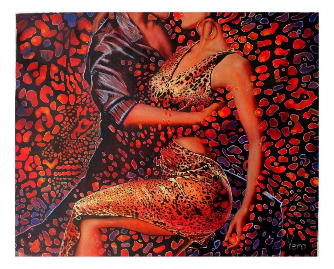 Vera V. Goncharenko Original Oil on Canvas- Wild Tango