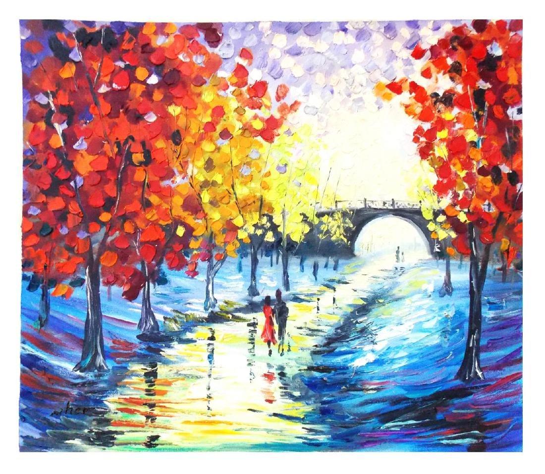 """Svyatoslav Shyrochuk- Original Oil on Canvas """"Rainy"""