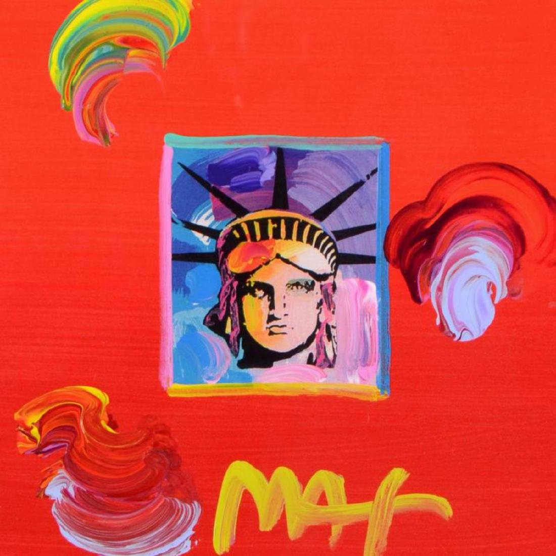 "Peter Max - ""Liberty Head"" Framed One-Of-A-Kind Acrylic - 2"