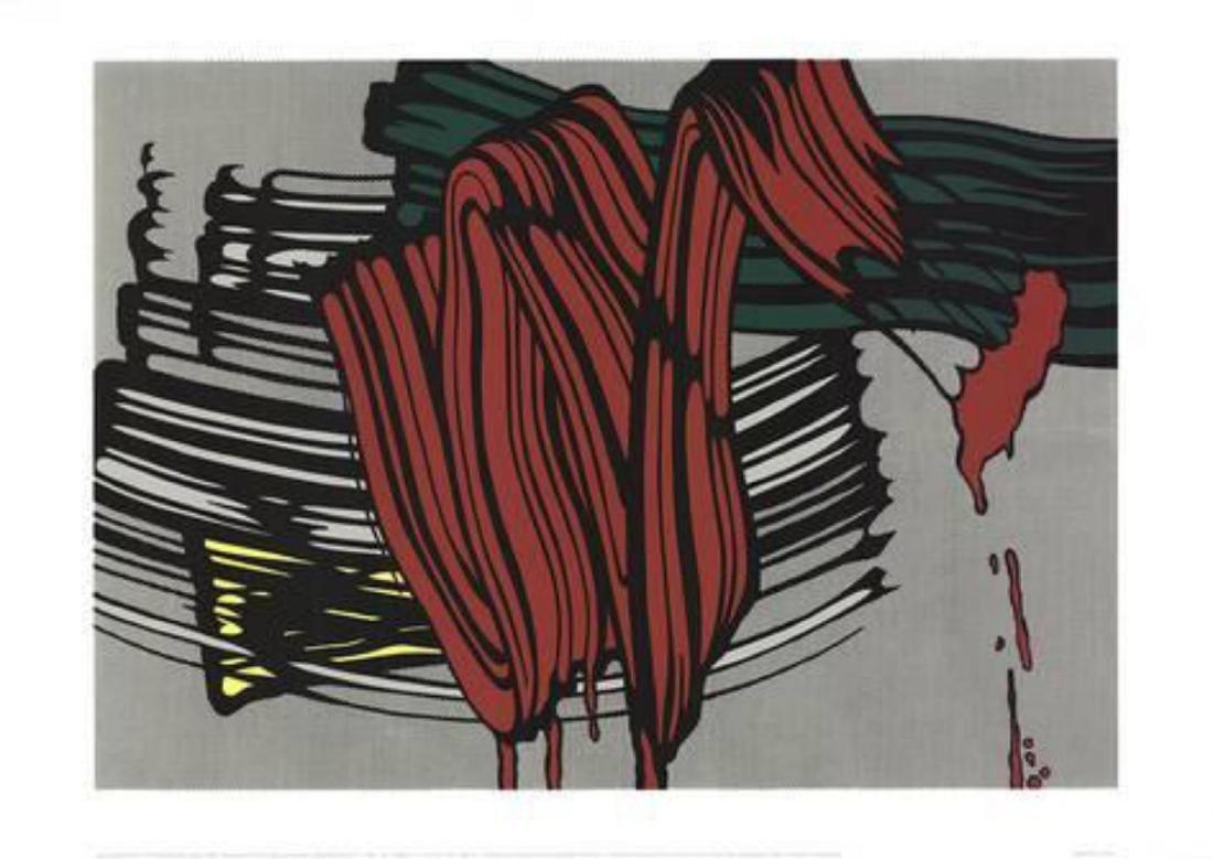 """Roy Lichtenstein """"Big Painting #6"""" Serigraph"""