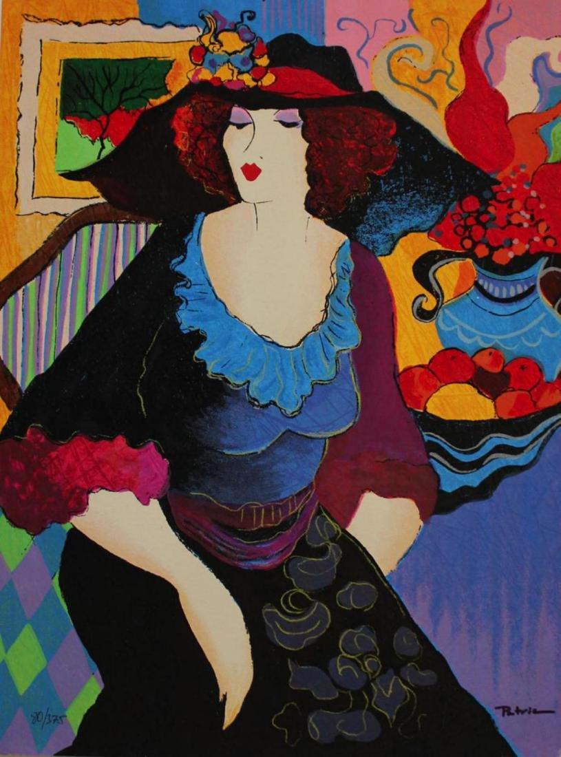 "Patricia Govezensky ""Amanda"" Serigraph on Silk Screen"