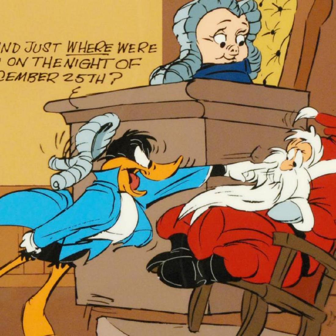 """Santa on Trial"" by Chuck Jones (1912-2002)! Sold Out - 2"