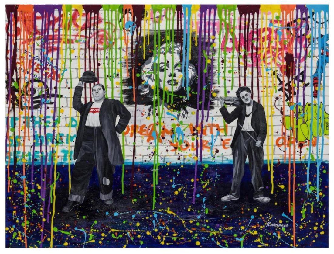 Nastya Rovenskaya- Laurel and Hardy | Hand Embelished