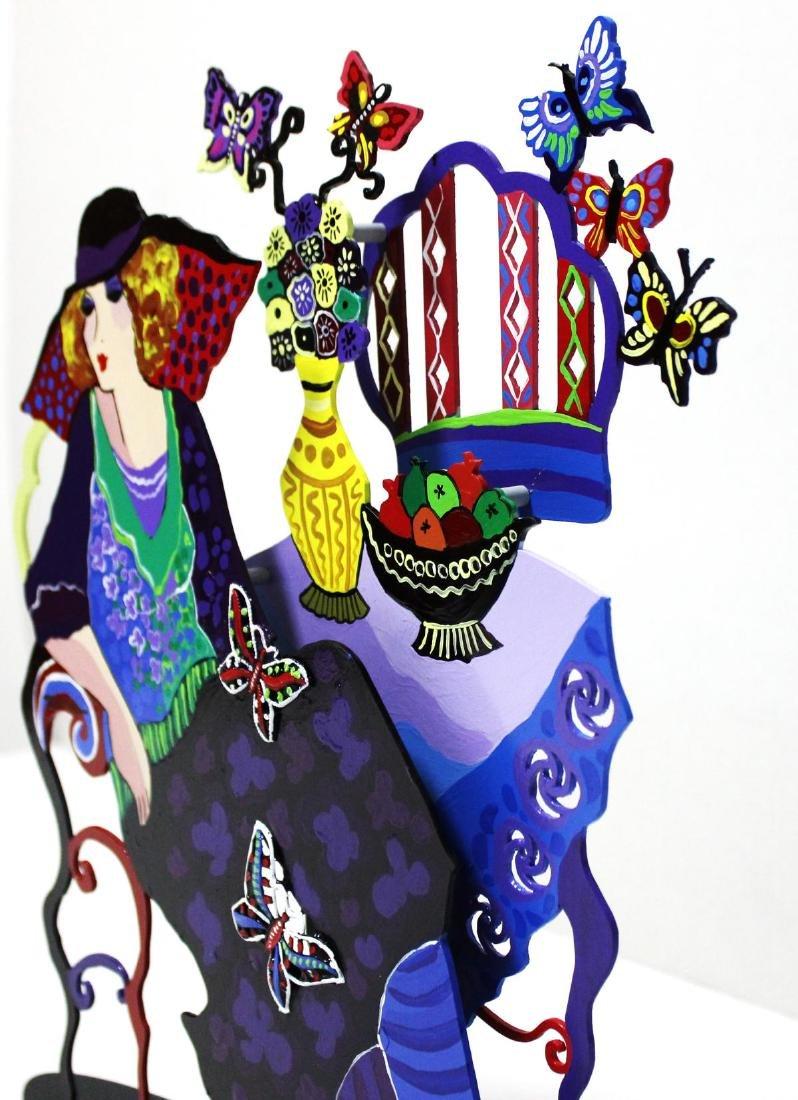 Patricia Govezensky- Original painting on cutout steel - 5