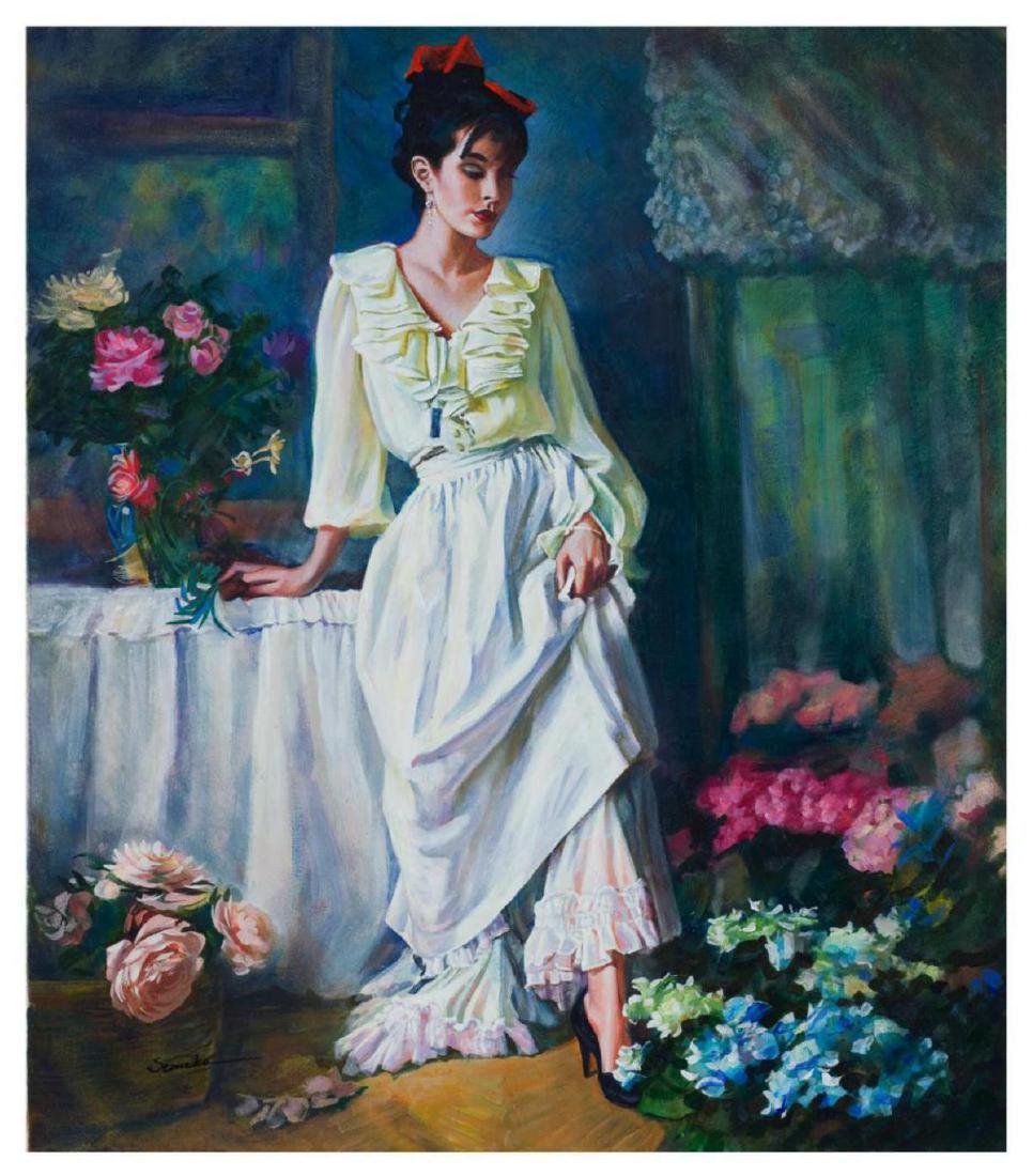 "Igor Semeko ""Classy Lady"" Original oil on canvas"