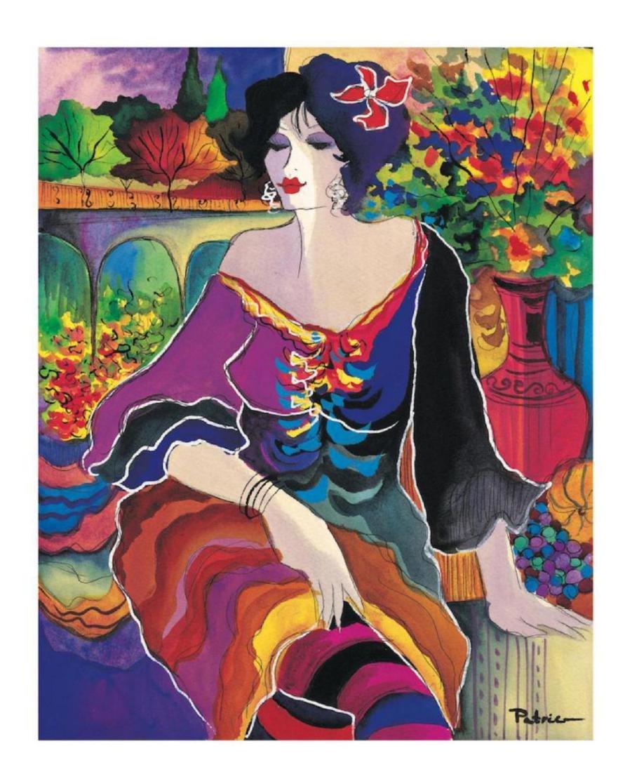 "Patricia Govezensky ""Flower Shop"" Hand Signed Serigraph"