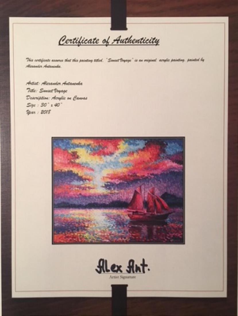 "Alexander Antanenka- ""Sunset Voyage"" Original Acrylic - 5"