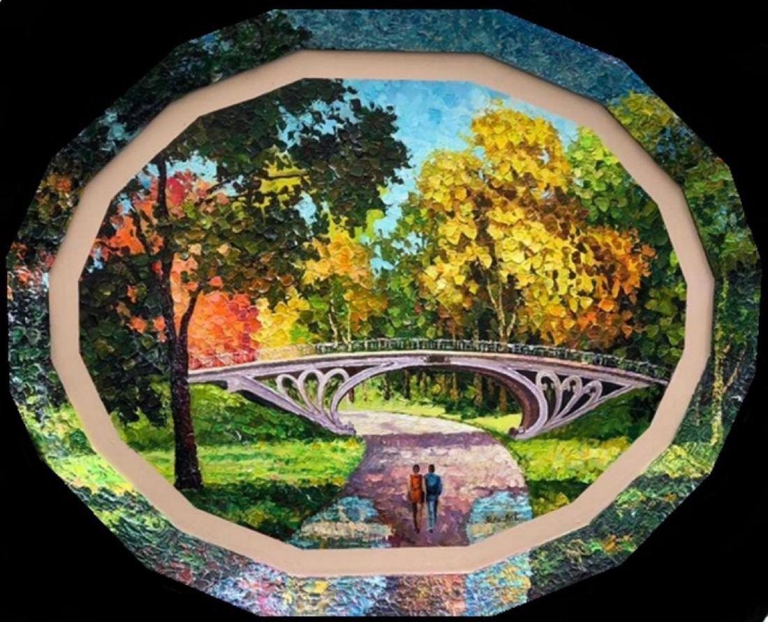 "Alexander Antanenka- ""Central Park"" Original Acrylic on"