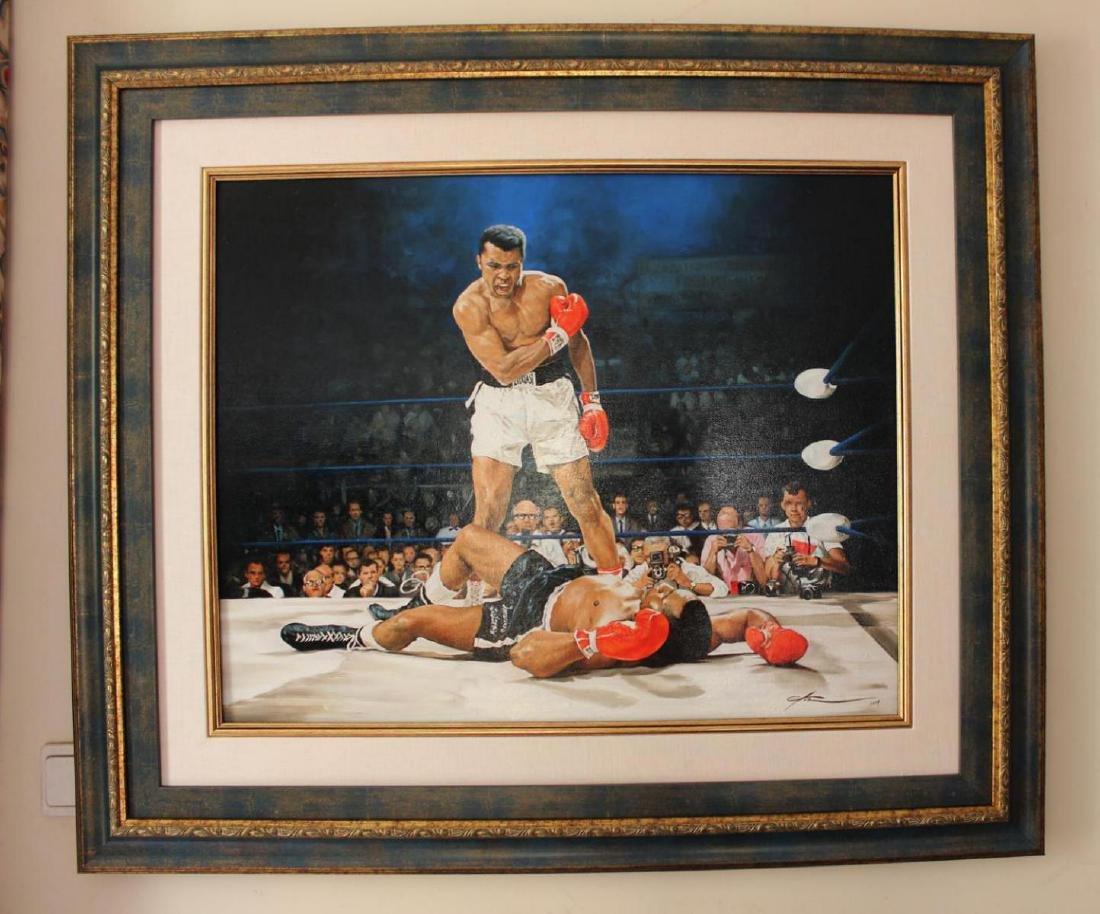 Yevgeniy Korol Ali vs. Liston Original Oil on Canvas
