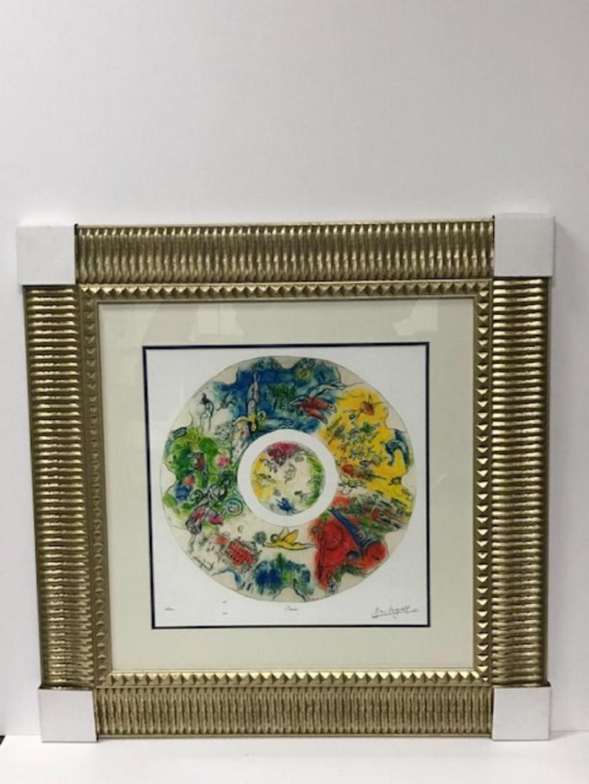 Marc Chagall Custom Framed Lithograph Limited Edition