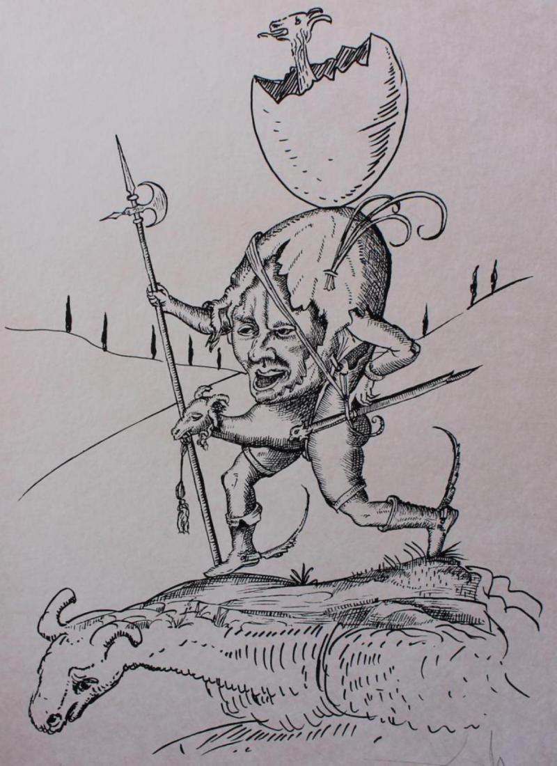 """Salvador Dali Original Lithograph """"Les Songes - 2"""