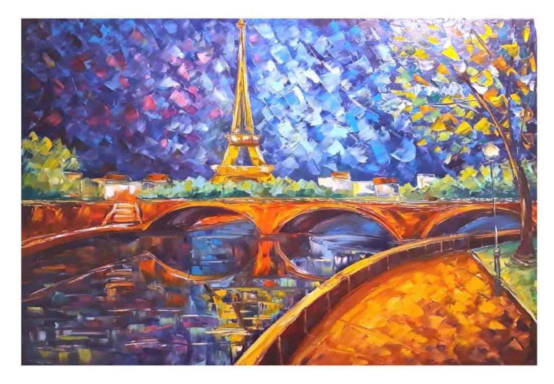 """Svyatoslav Shyrochuk- Original Oil on Canvas """"la Ville"""