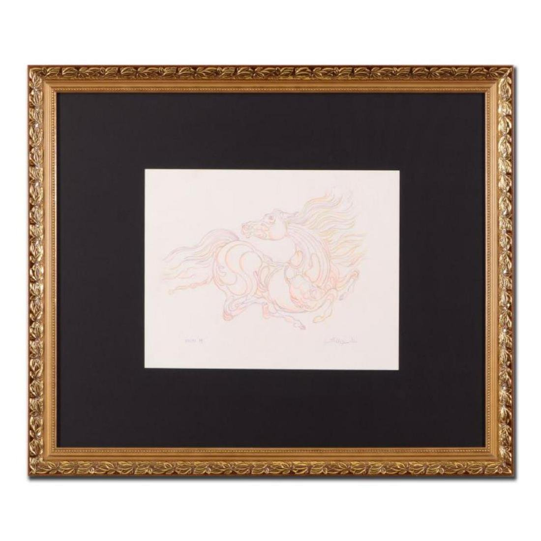 "Guillaume Azoulay - ""Essai M"" Framed Original Drawing,"