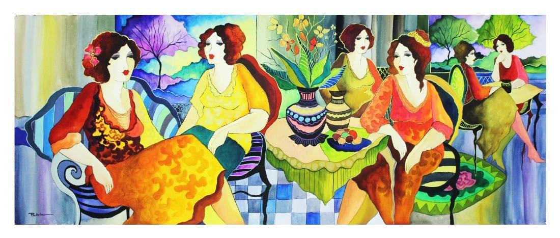 "Patricia Govezensky- Original Watercolor ""Margaret and"