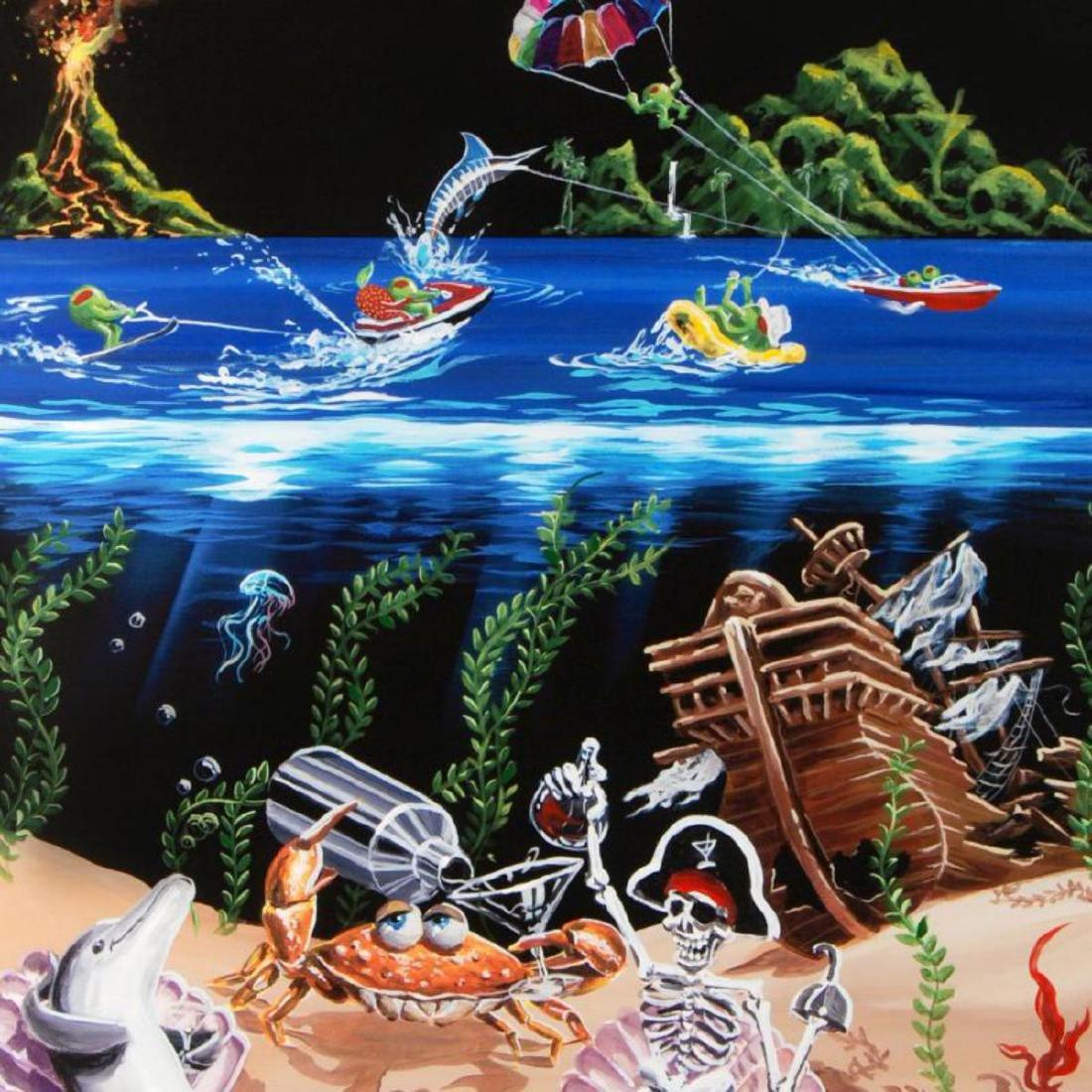 """Sand Bar 2"" Mural LIMITED EDITION Hand-Embellished - 2"
