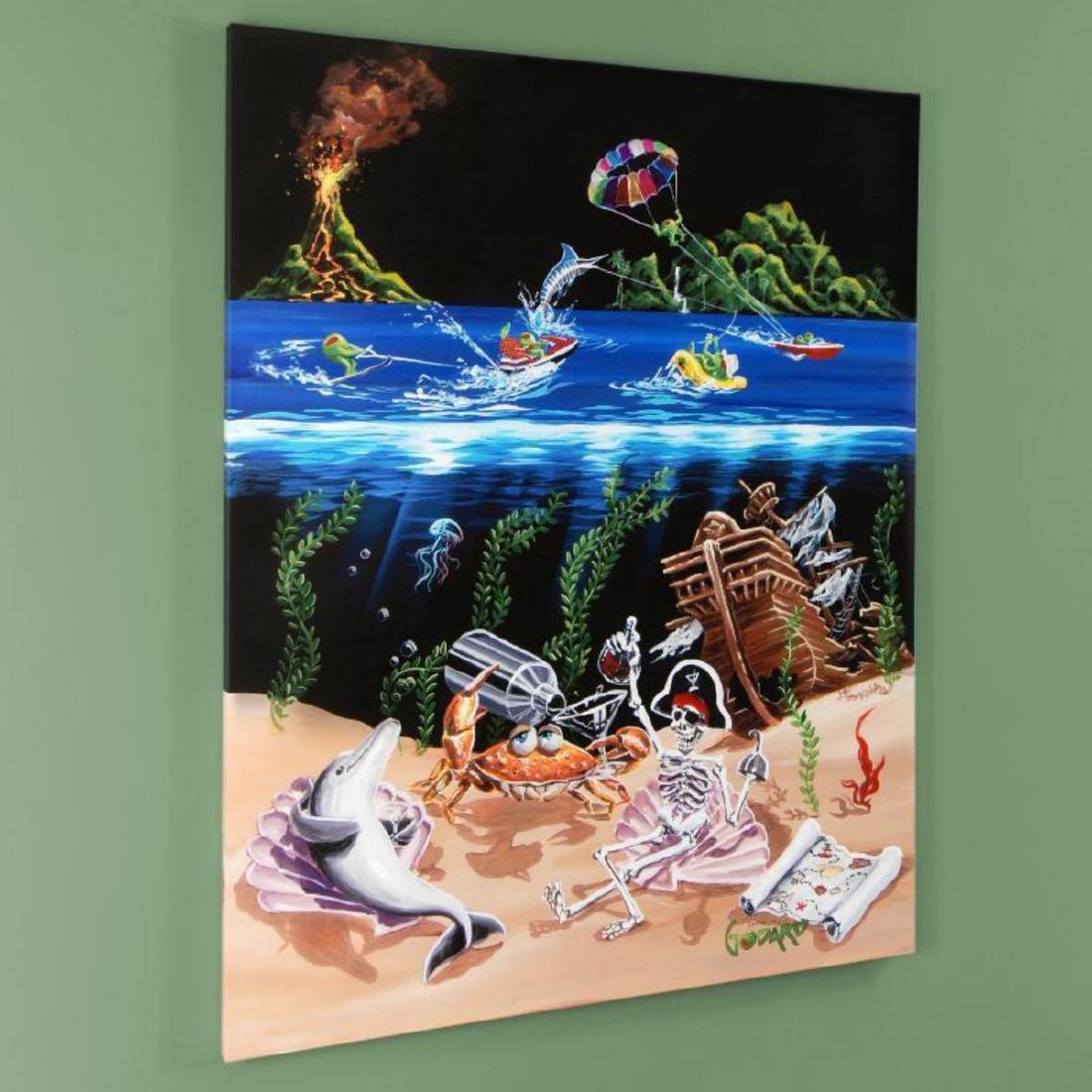 """Sand Bar 2"" Mural LIMITED EDITION Hand-Embellished - 3"