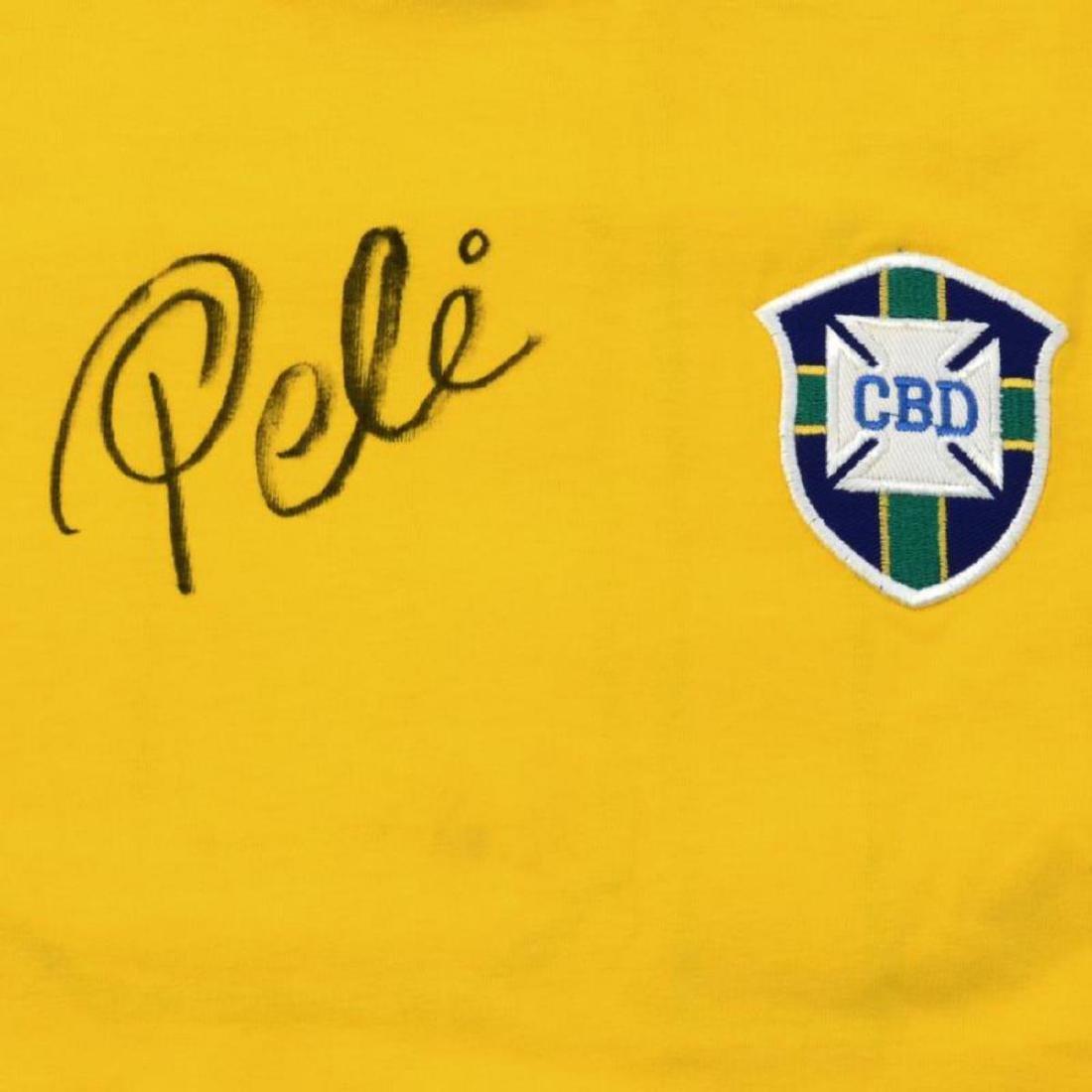 Brazil Soccer Jersey Autographed by Legendary - 2