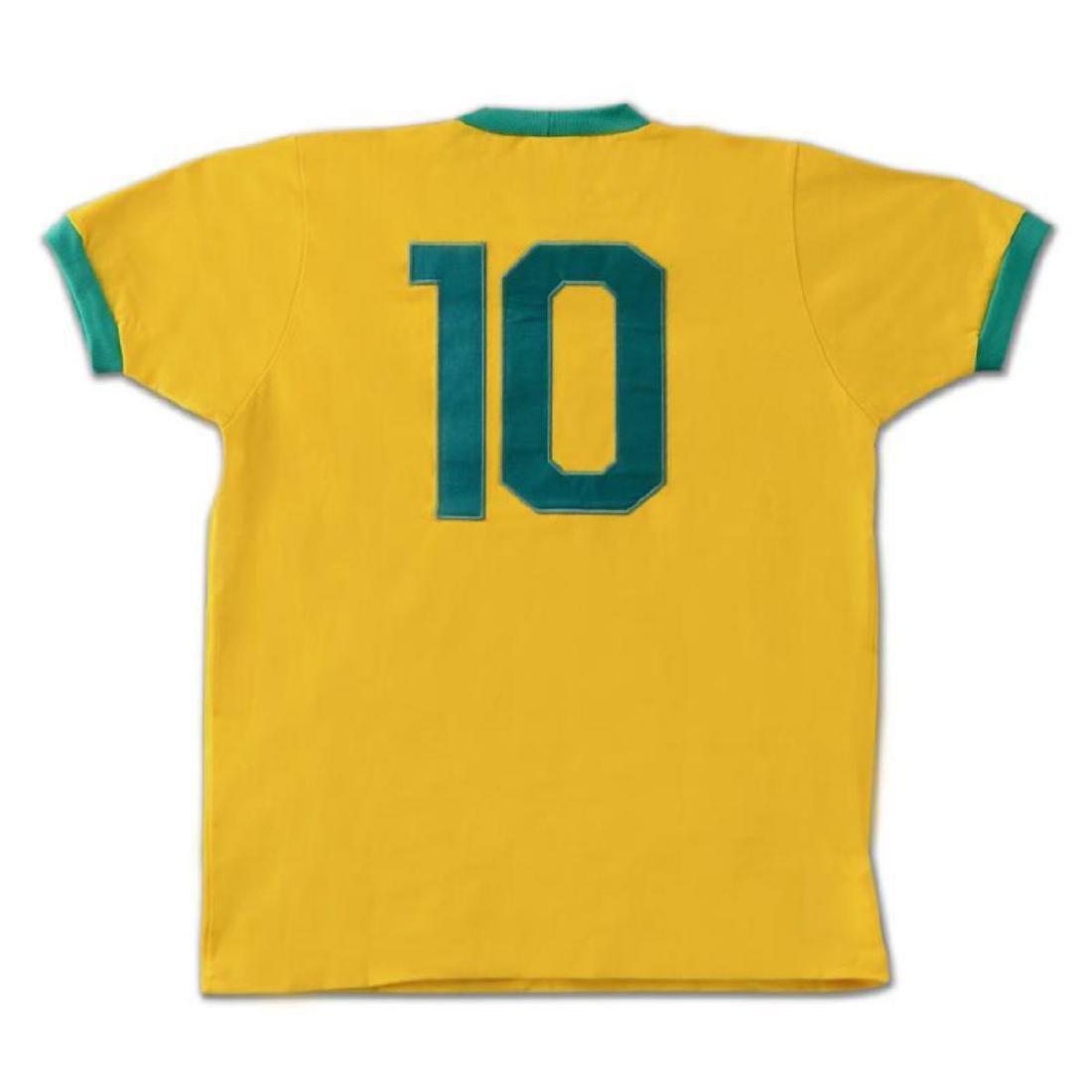 Brazil Soccer Jersey Autographed by Legendary - 3