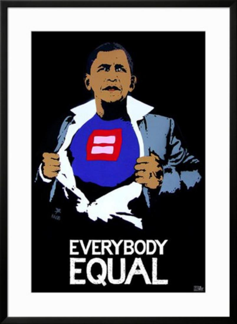 "Banksy "" Obama"" Custom Framed"