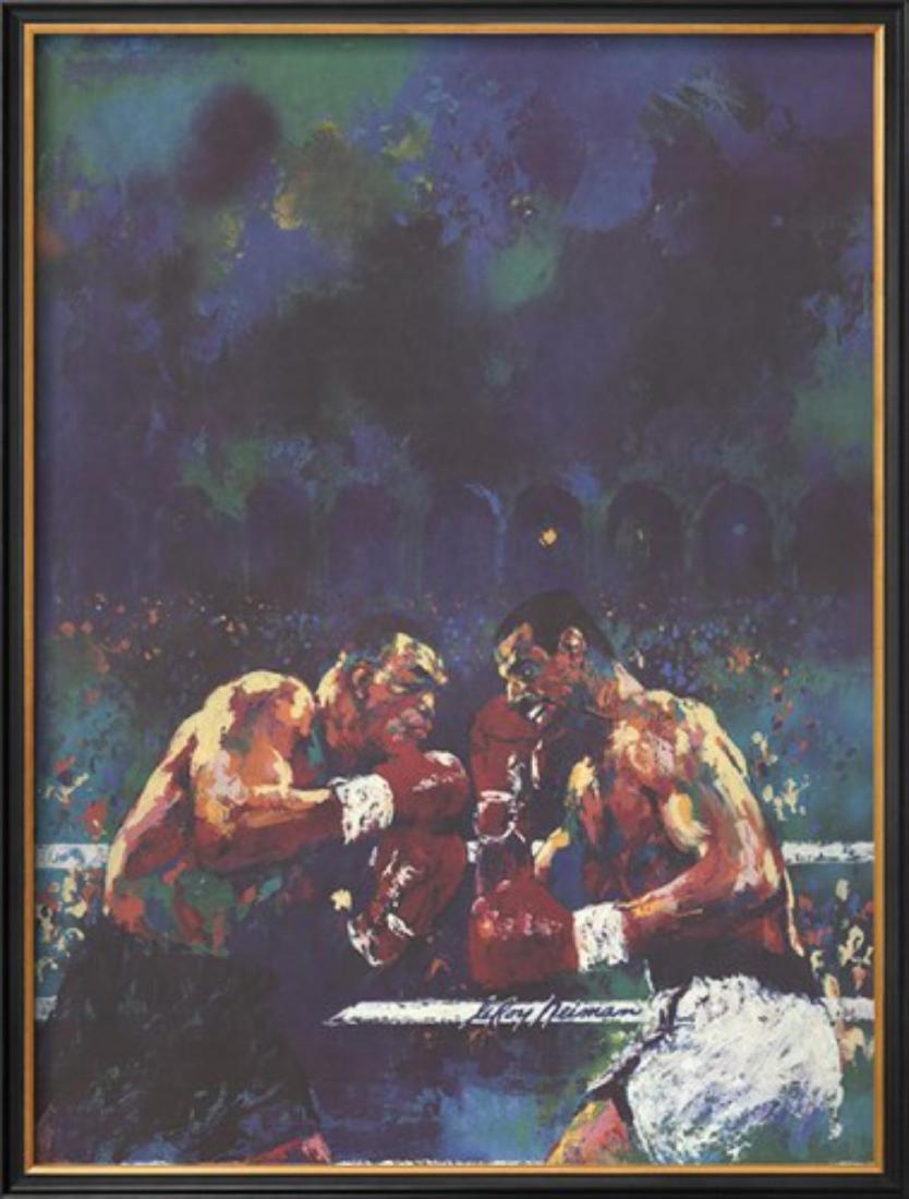 """LeRoy Neiman """"Tyson vs. Spinks"""" Custom Framed"""