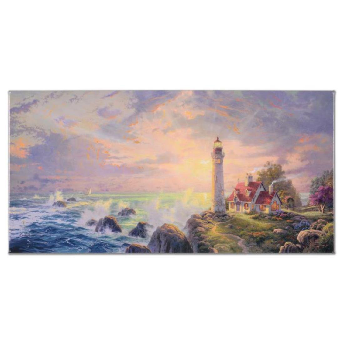 "Thomas Kinkade (1958-2012) - ""Guiding Light"" Hand"