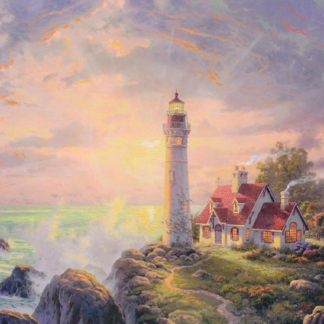 "Thomas Kinkade (1958-2012) - ""Guiding Light"" Hand - 2"