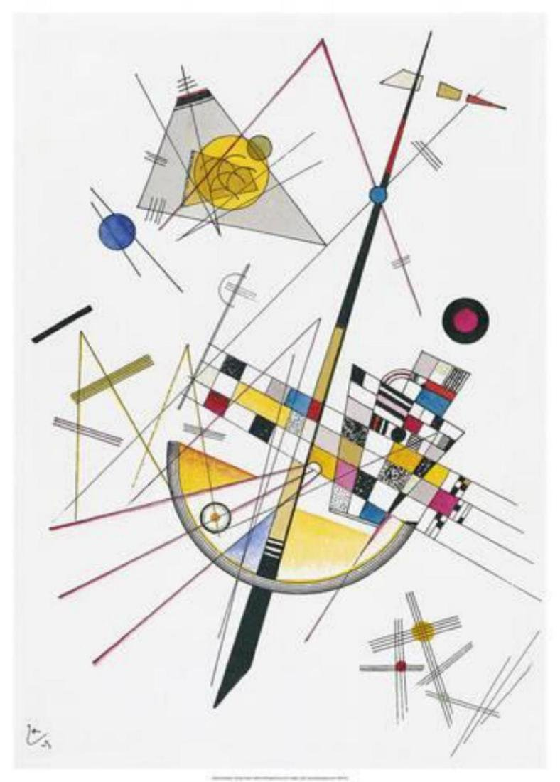 "Wassily Kandinsky ""Delicate Tension (1923) "" Offset"