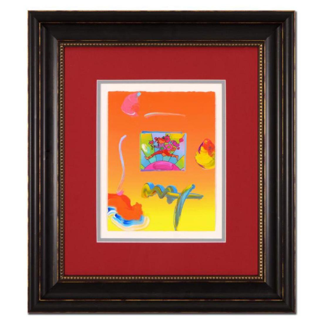 "Peter Max - ""Flower Jumper"" Framed One-Of-A-Kind"