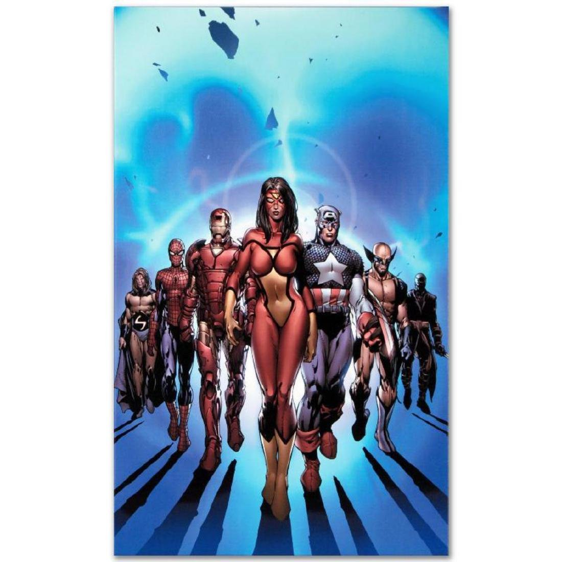 """New Avengers #7"" LIMITED EDITION Giclee on Canvas by"