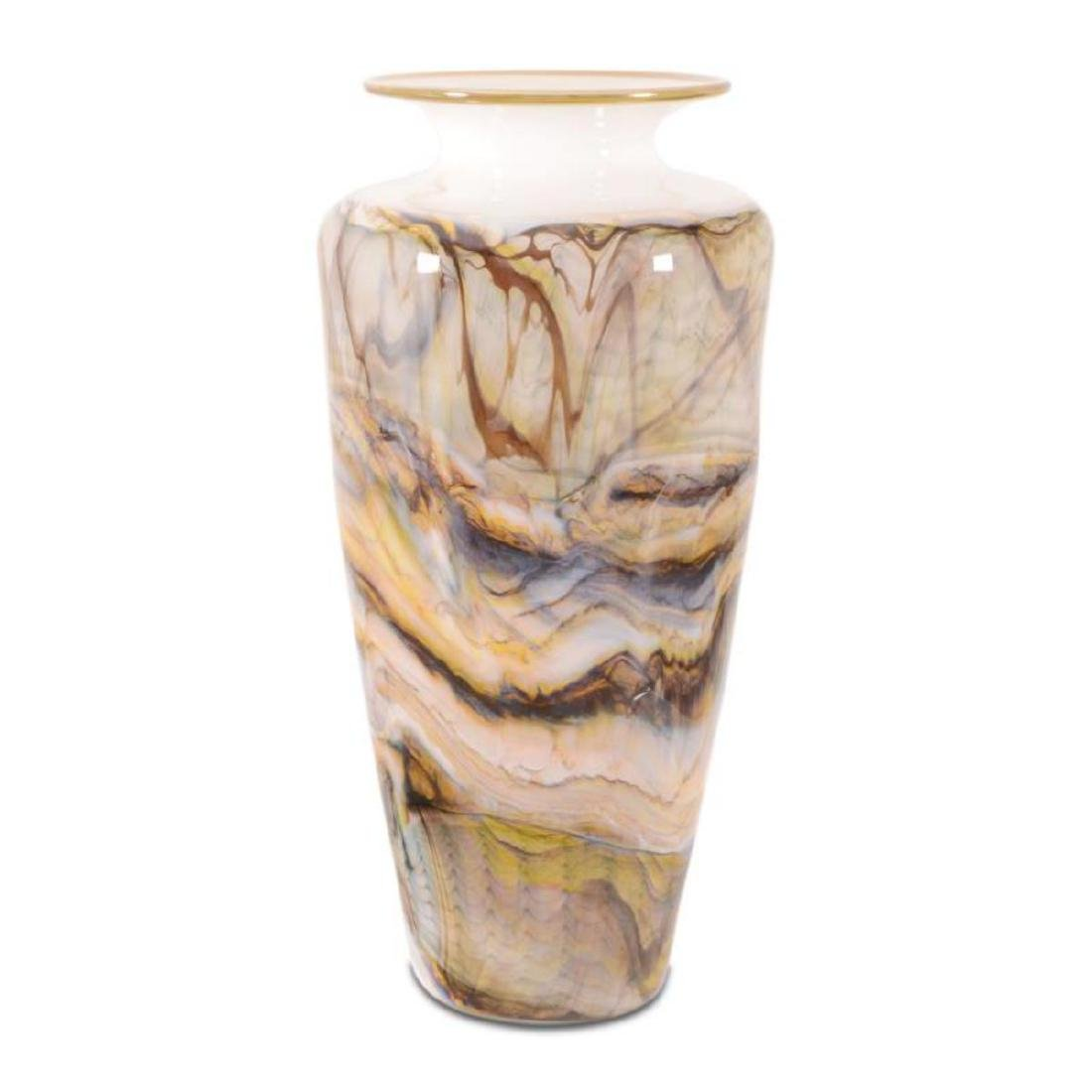 """""""Opal Series Small Traditional Urn"""" Hand Blown Glass"""