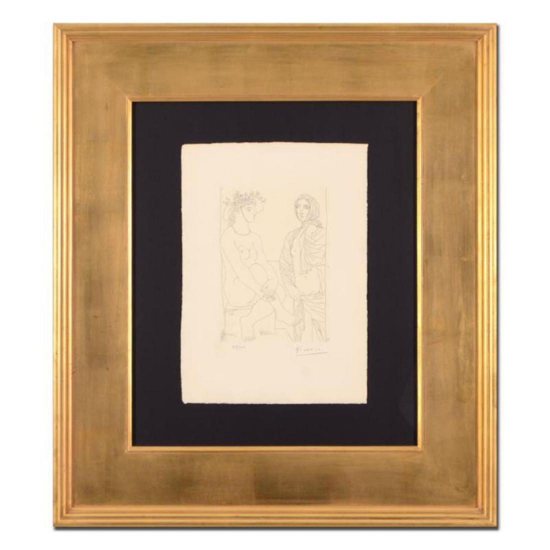 """Picasso (1881-1973) - """"Femme Assise au Chapeau (Bloch"""