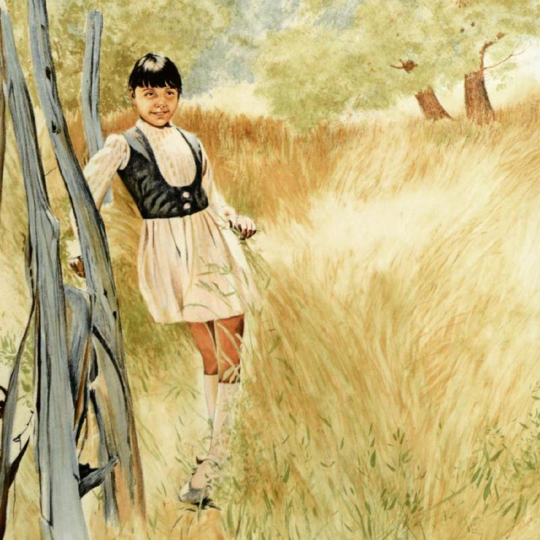"William Nelson - ""Girl in Meadow"" Limited Edition - 2"